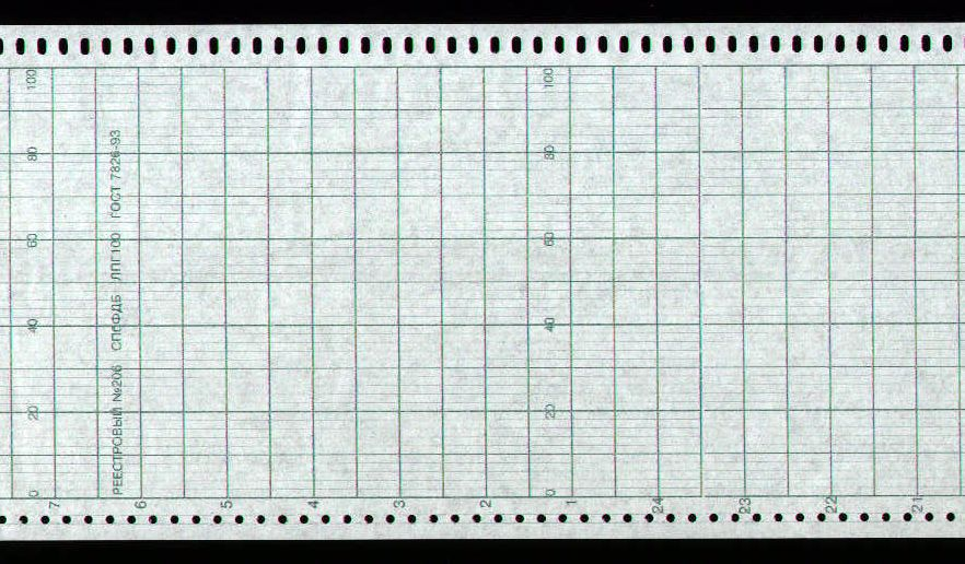 Диаграммная рулонная лента, реестровый № 206 Альфалог (42,333 руб/кв.м)