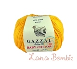 Пряжа Gazzal Baby Cotton 3417 желток