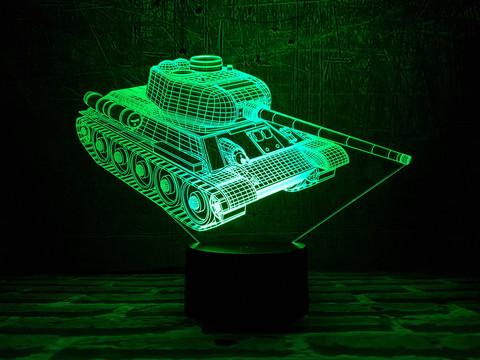 3D ночник Танк Т-34