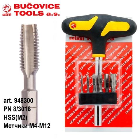 Набор метчиков для шуруповерта Bucovice BIT3 HSS M4-M12 948300