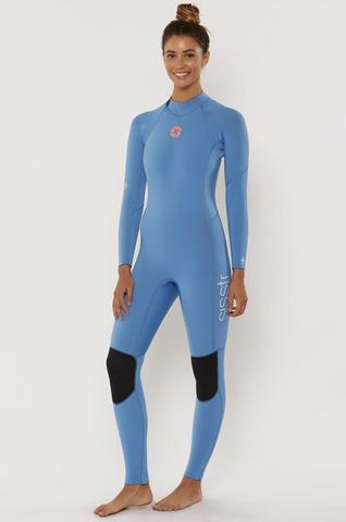 7 Seas 4/3 Back Zip Full Suit True Blue