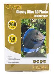 Фотобумага Crystal 260г/м2, 10х15, 50л. RC Glossy (Глянец), пластиковое покрытие