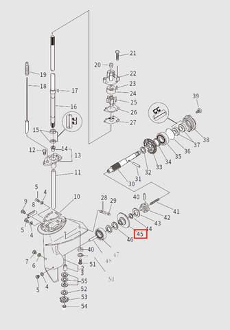 Шестерня переднего хода для лодочного мотора T9.8 Sea-PRO (13-45)
