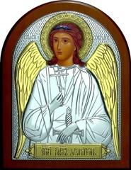 Икона Ангела Хранителя серебро и золочение 16х12см