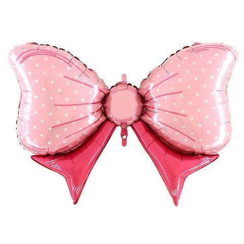 Фольгированный шар Бант розовый