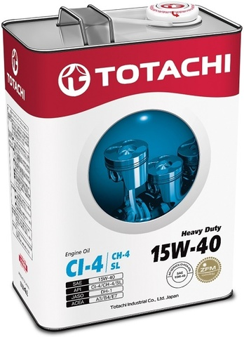 Heavy Duty 15W-40 TOTACHI масло минеральное дизельное моторное (4 Литра)