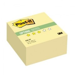 Стикеры Post-it Optima куб 636-OY 76х76 канар.желтый 400 л.