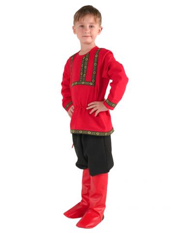 Рубаха красная льняная 1