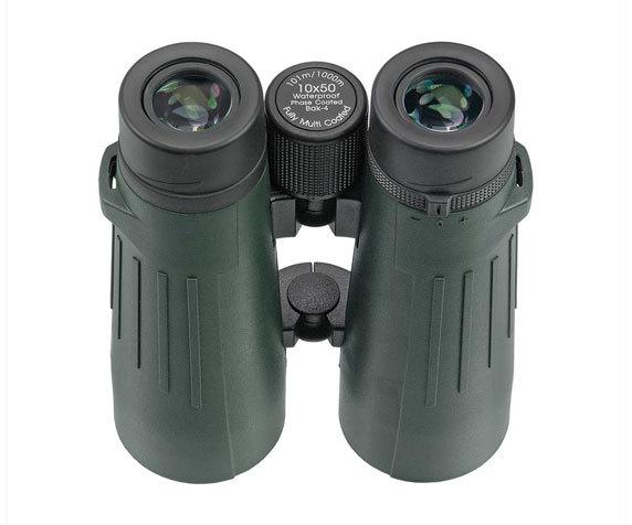 Резиновые окуляры Silver Line БН 10x 50, темно-зеленый