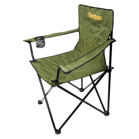 Кресло кемпинговое складное с подлокотниками