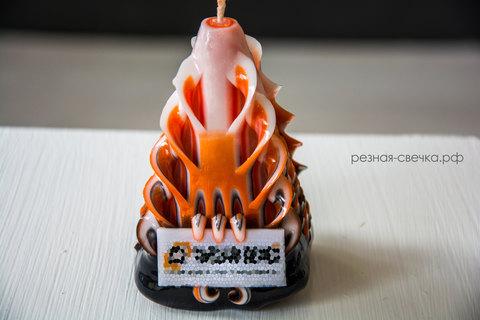 Резная свеча  с логотипом