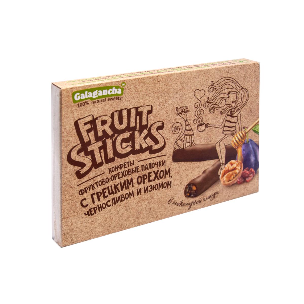 FruitSticks с черносливом и грецким орехом  в шоколадной глазури