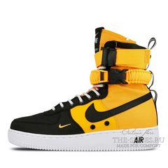 Кроссовки мужские Nike Air Force SF Urban Black Yellow