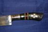 Пчаки по 4000 рублей. Узбекский кухонный нож. Клинок Прямой или Изогнутый. Углеродистая сталь ШХ15. Рукоять- натуральная кость - рог быка украшенная перламутром. Мастер Ибрагим Рахимов