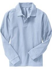 OLD NAVY Поло с длинным рукавом, голубой МВ111