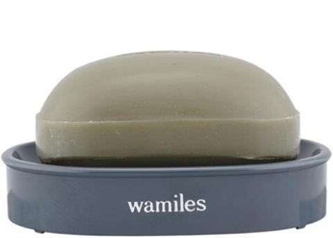 Мыло туалетное с морской глиной для жирной и смешанной кожи Wamiles Ionne Claysoap E, (с мыльницей), 100 г