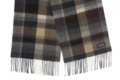 Шерстяной шарф, мужской в клетку 31261