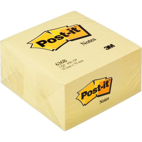 Стикеры Post-it куб 636-В 76х76 желтый 450л.