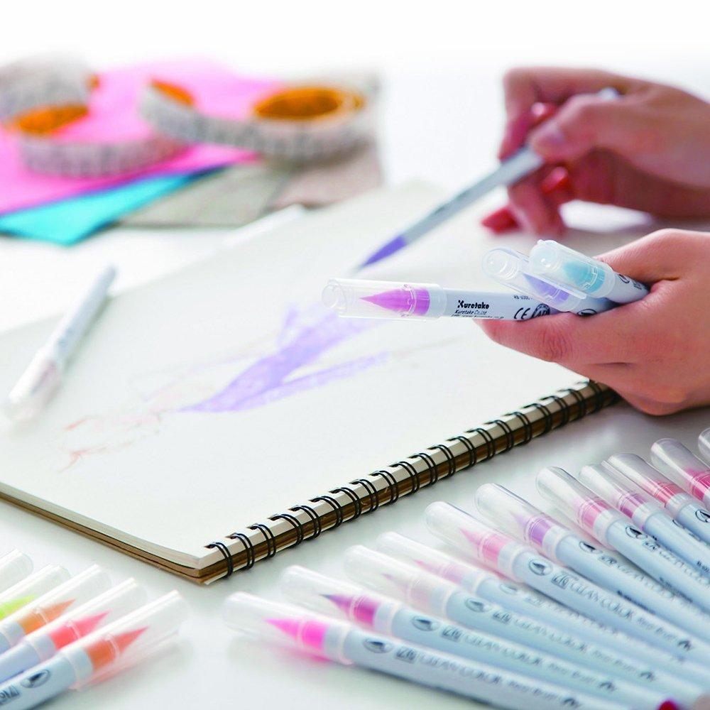 Маркер акварельный ZIG Clean Color Real Brush- штучно -Light Carmine - 021