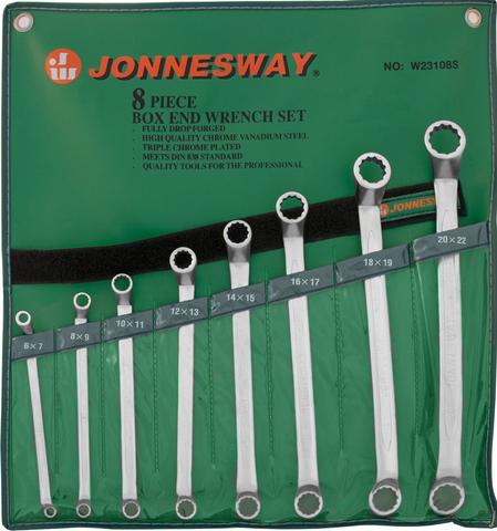 W23108S Набор ключей гаечных накидных изогнутых 75° в сумке, 6-22 мм, 8 предметов