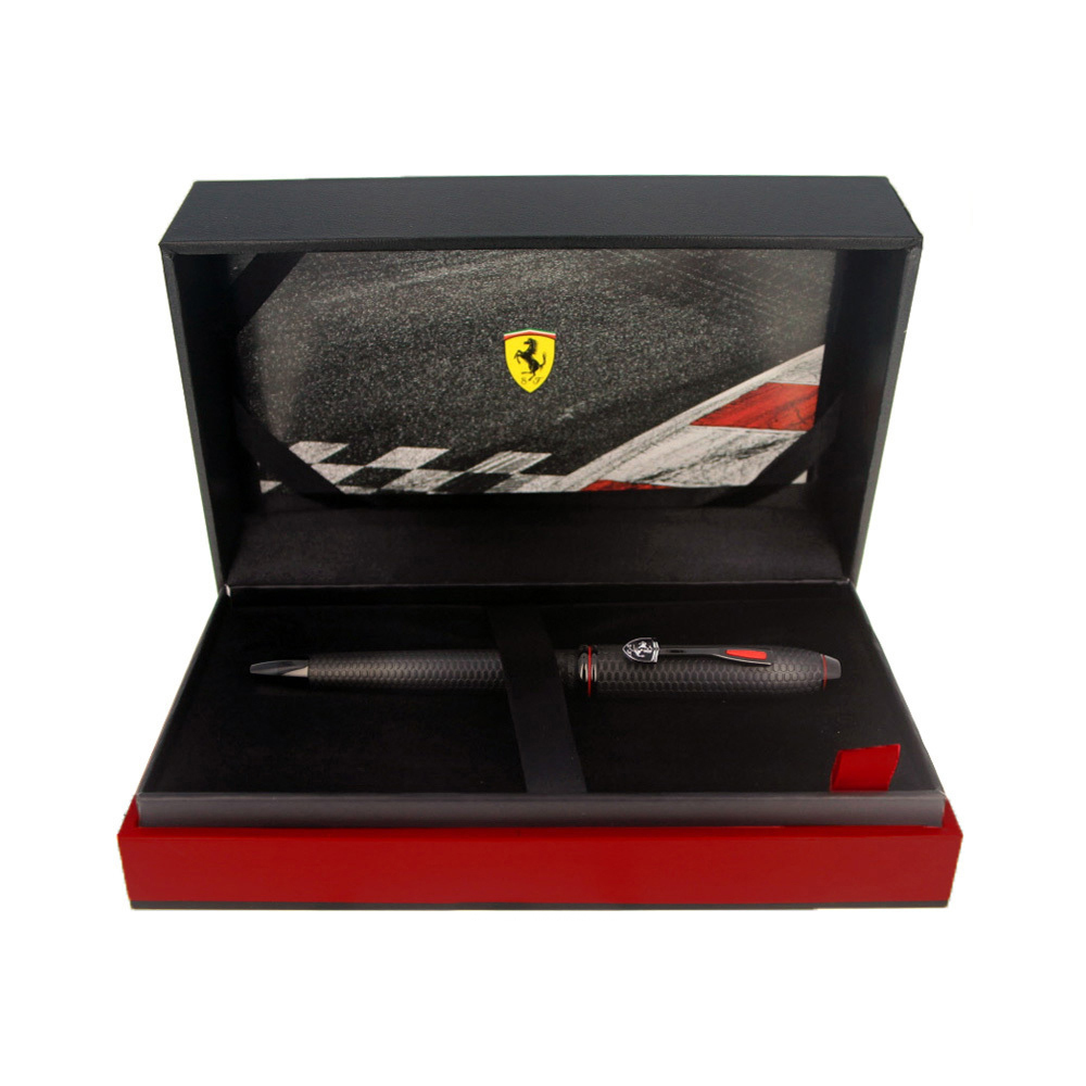 Cross Townsend - Ferrari Brushed Black Etched Honeycomb Pattern/Black PVD, шариковая ручка