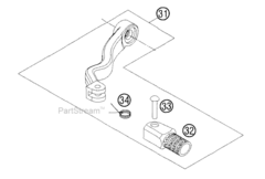 Лапка переключения передач KTM 250/300 2T