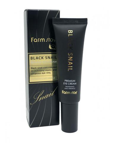 Крем для кожи вокруг глаз с муцином черной улитки FarmStay Black Snail Premium Eye Cream 50 мл