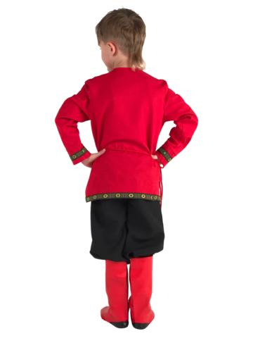 Рубаха красная льняная 2