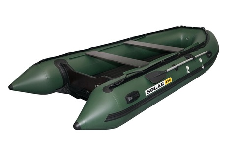 Надувная ПВХ-лодка Солар - 420 Jet Tunnel (зеленый)