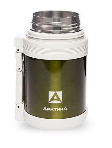 Термос универсальный (для еды и напитков) Арктика (0,8 литра) с широким горлом, болотный