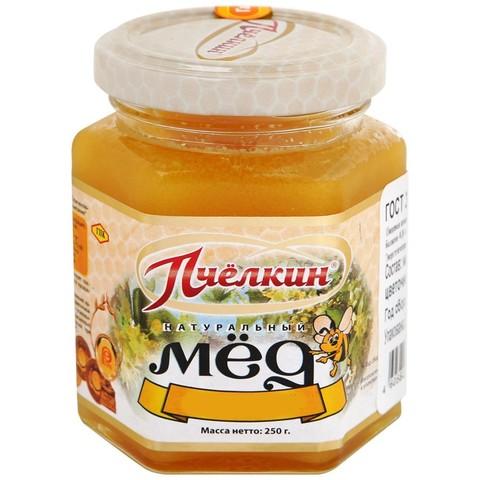 Мед липовый в стеклянной банке Пчёлкин мёд, 250г