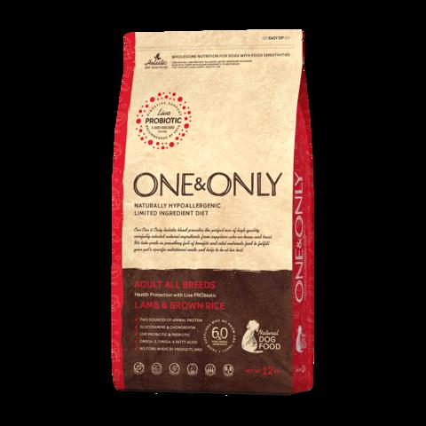 One&Only Lamb & Rice Adult All Breeds Сухой корм для взрослых собак всех пород Ягненок с рисом низкозерновой