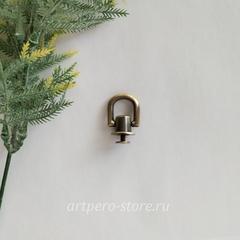 ,Ручкодержатель на круглой основе d10 мм, под антик