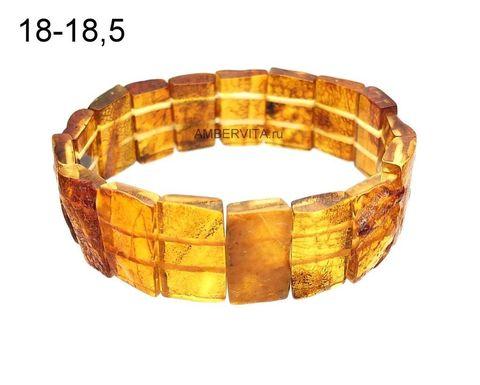 браслет высокий из натурального янтаря