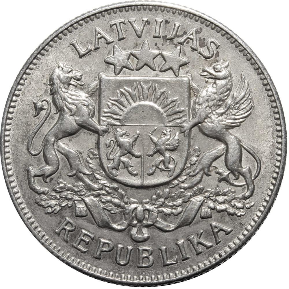 2 лати 1925 год. Латвия. VF+