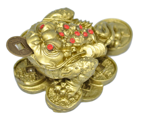 Денежная жаба полистоун маленькая