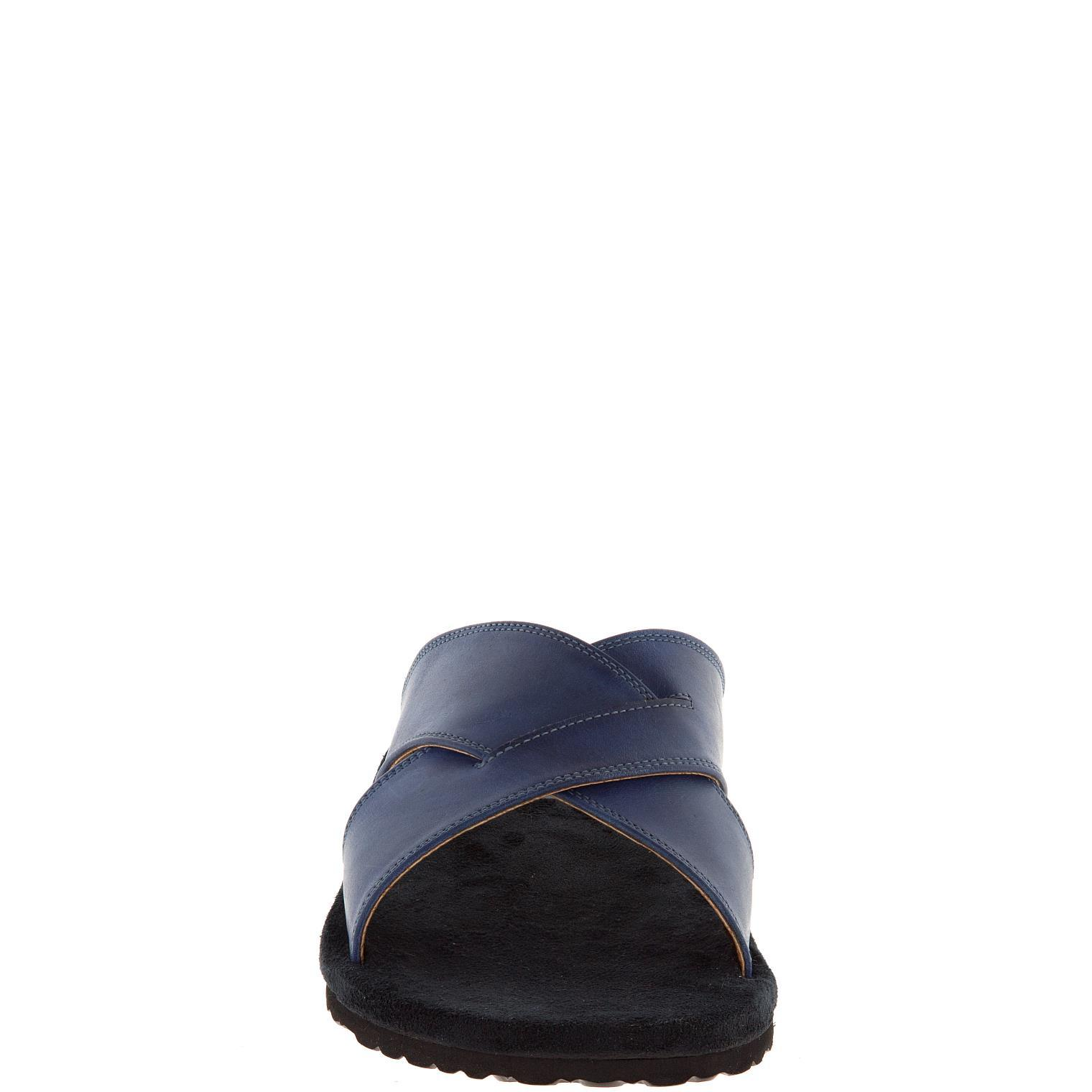 577157 сабо мужские синие больших размеров марки Делфино
