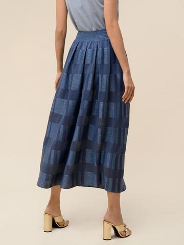 Женская юбка цвета деним из вискозы - фото 2