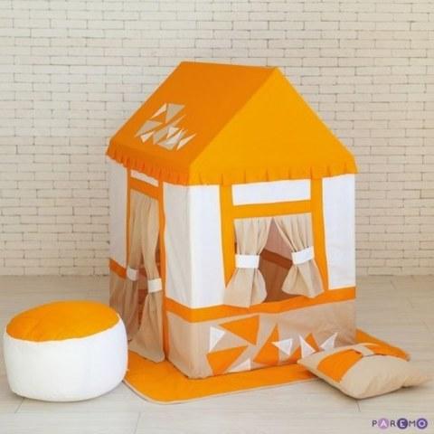 Текстильный домик-палатка Paremo с пуфиком Замок Сомерсет PCR116-03