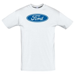 Футболка с принтом Форд (Ford) белая