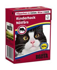 BOZITA консервы для кошек кусочки в желе с рубленной говядиной 370 г