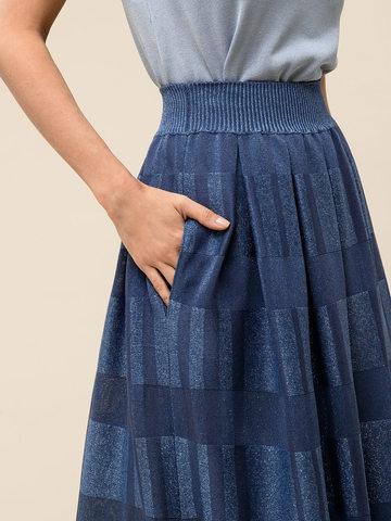 Женская юбка цвета деним из вискозы - фото 4