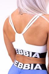 Женский топ Nebbia athletic cut out sport bra 695 white