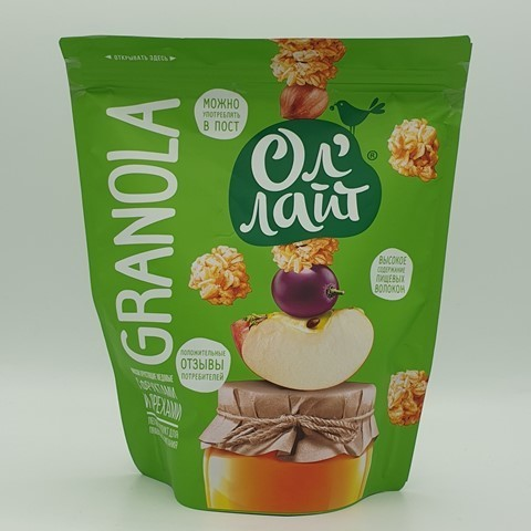 Запеченные мюсли (гранола) с фруктами и орехами Ол`лайт