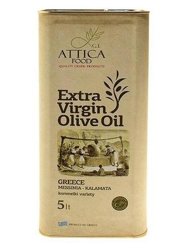 Оливковое масло первого холодного отжима Attica Food 5 л жесть