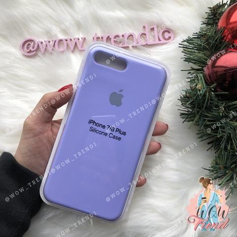 Чехол iPhone 7+/8+ Silicone Case /glycine/ гортензия 1:1