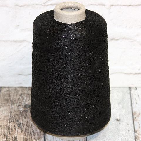 Вискоза с люрексом PECCI FILATI / KONNUBIO 6000 черный с блеском