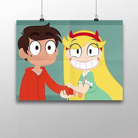 Плакат с Марко и Стар №2