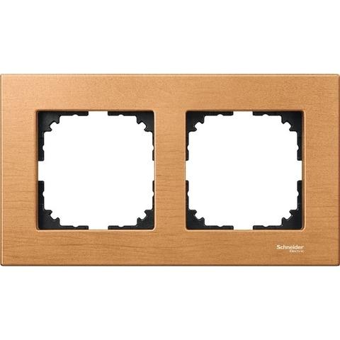 Рамка на 2 поста. Цвет Бук. Merten. M-Elegance System M. MTN4052-3470