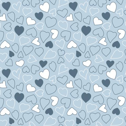 Синие сердечки